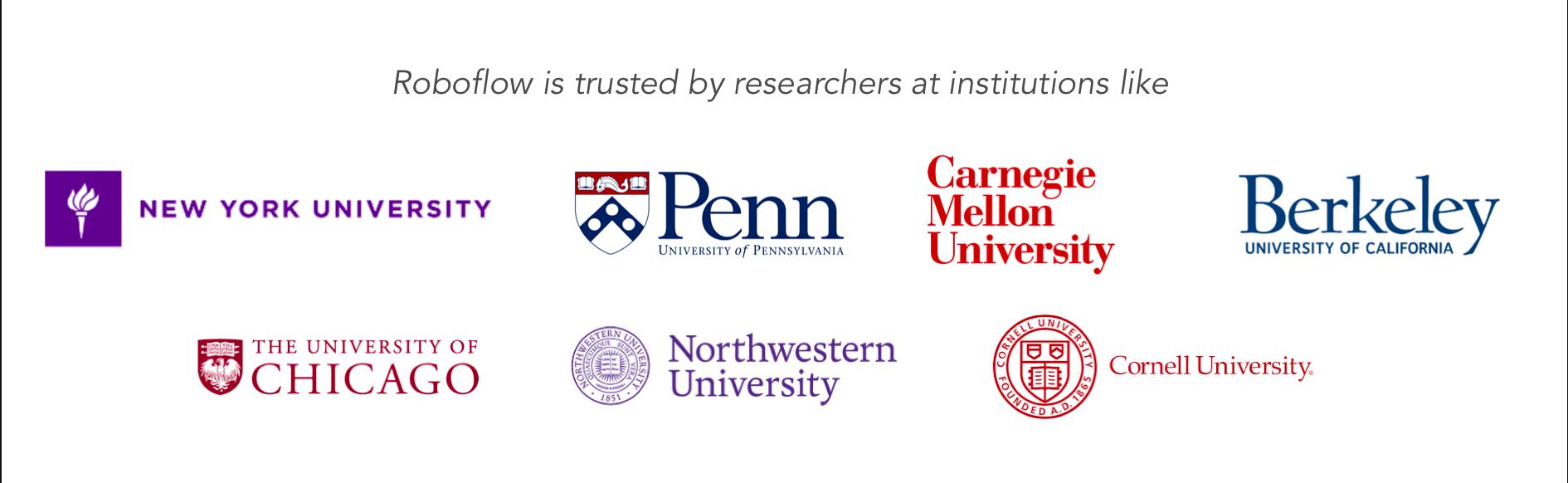 University Logos (NYU, UPenn, Carnegie Mellon, Berkeley, UChicago, Northwestern, Cornell)