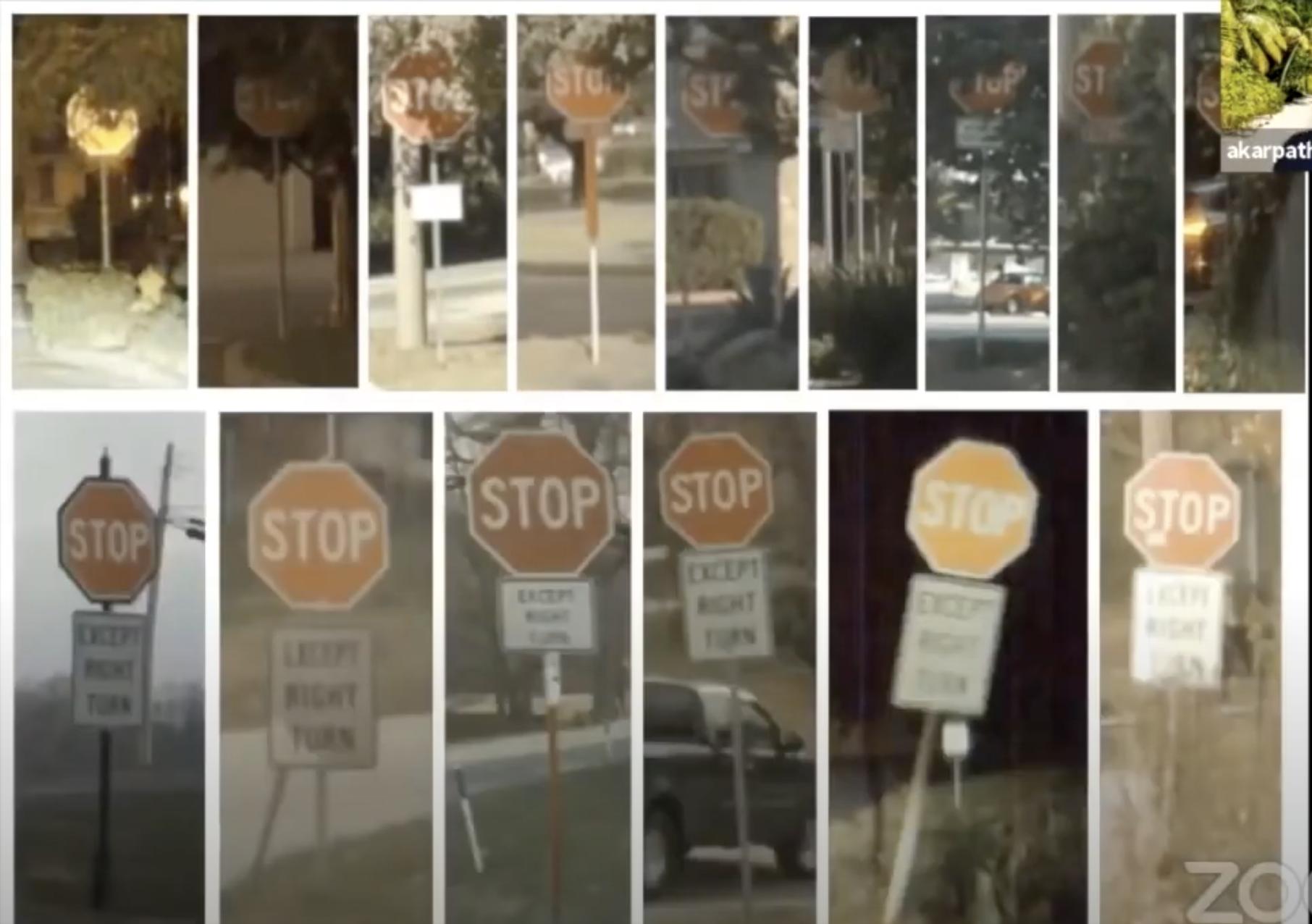 Tesla's stop signs dataset