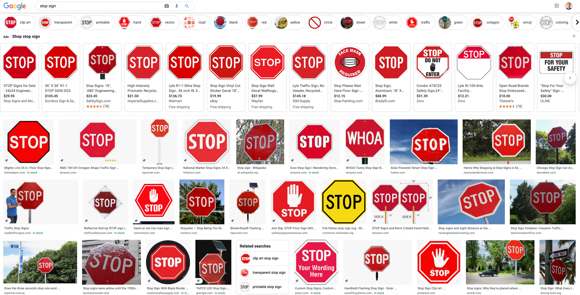 Google Image Search Results for Stop Sign