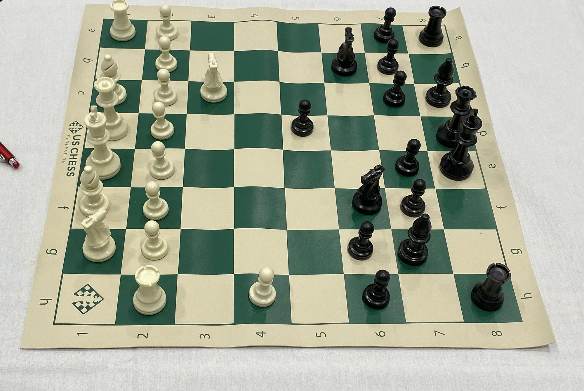 Chess board from the US Chess Federation