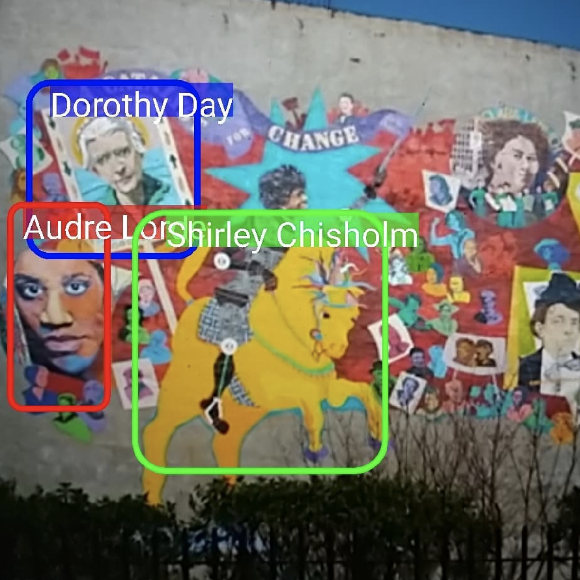 Augmented reality and computer vision on street murals