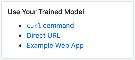 Use a Roboflow model via API or web application.