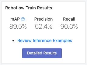 Roboflow Train results
