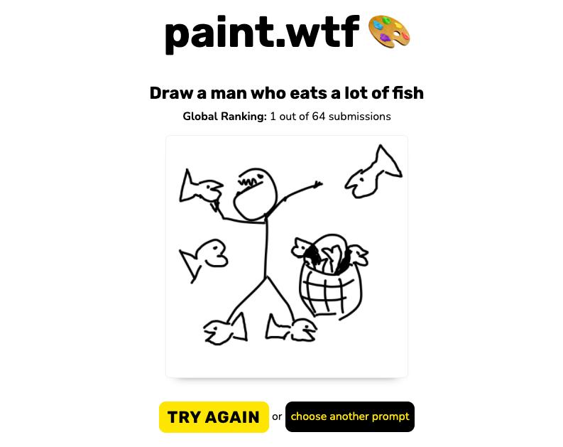 CLIP understands simple illustrations.