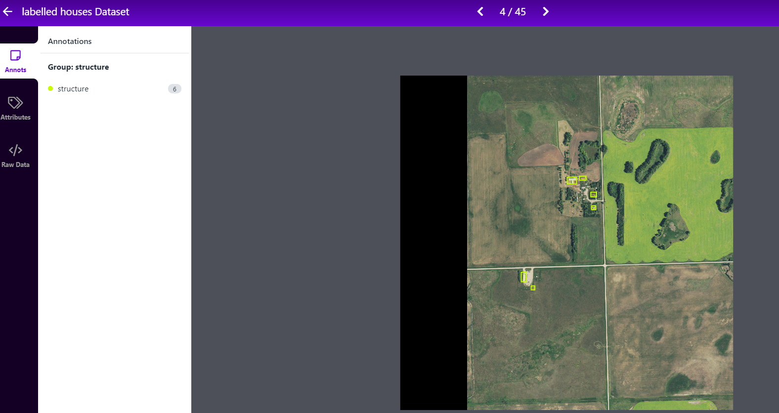 Labeling satellite images for object detection.
