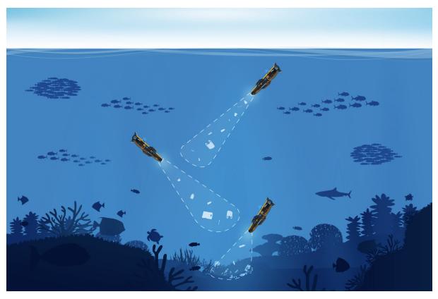 Autonomous underwater vehicles identify plastic